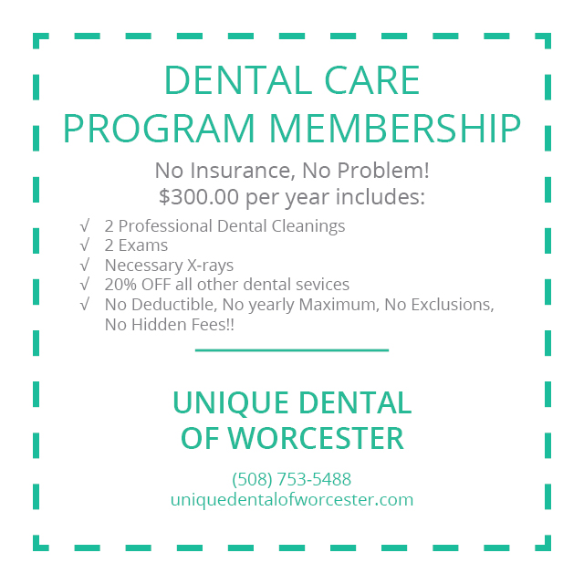 Worcester Dentistry Practice - Dental Care Program